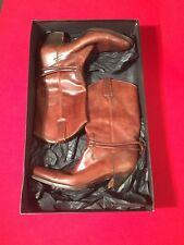 $1850 Gucci Cowboy Rodeo Men's Tan Brown Leather Boots (Size 11) Excellent!!!