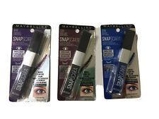Maybelline Snapscara Mascara Lot Of  3 Shades! Blue ~ Violet ~ Black Cherry