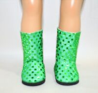 "Fits Our Generation American Girl Doll 18"" Dolls Clothes Shoes Green  Boots"