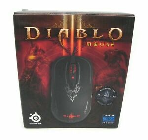 NEW SteelSeries Diablo III 62151 Black 8 Buttons 1 x Wheel USB Wired Laser Mouse