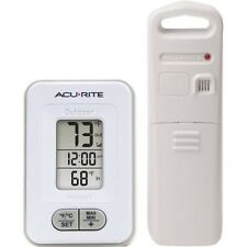 AcuRite Wireless Sensor Digital Indoor/Outdoor Thermometer with Clock White