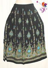 Indian Long Sequin Skirt Boho Bollywood Belly Dance Hippie Gypsy Maxi long skirt
