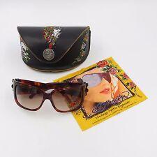 Ed Hardy Sunglasses EHS-025 64-15 120 Tortoise Geisha Dragon Swarovski Crystals