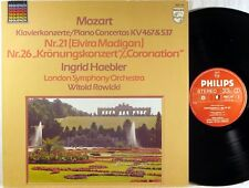 "PHILIPS Mozart INGRID HAEBLER Piano Concerto #21 & #26 ""CORONATION"" 6527 147 NM-"