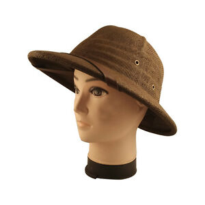 Summer Sun Toyo Pith Safari Jungle Hat Hiking Helmet With Sweatband bucket hat