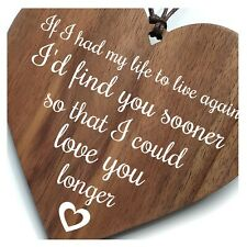 Valentine - If I Had My Life To Live Again Boyfriend Girlfriend Wife Gift Love