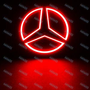 5D LED Car Tail Logo Red Light Badge Emblem Light For Mercedes-Benz S350 S300L