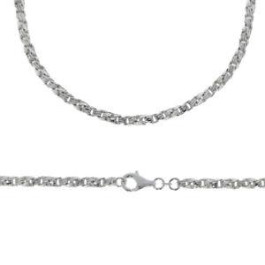 Kette Karreeanker 1,9 mm Muster ähnlich Königskette 925 Silber anlaufgeschützt