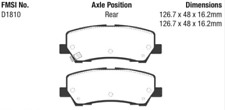 EBC Yellowstuff Sport Brake Rear Pad Set for 15-20 Mustang 2.3L Turbo / 5.0L