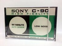 SONY C-90 BLANK AUDIO CASSETTE TAPE NEW RARE 1971 YEAR JAPAN MADE