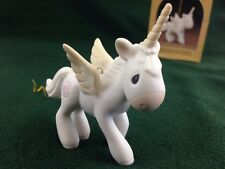 Unicorn Ornament Precious Moments Enesco Jonathan & David 1982 E-2371 Bisque