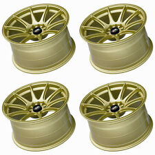 "XXR 527 17"" x 8.25J ET35 5x100/114 GOLD MASSIVE WIDE RIMS ALLOYS WHEELS Z1441"