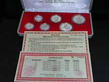S-86: Singapore Proof Set. Sterling Silver, 1985, c/w Certs, plastic case. 17565
