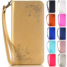 Butterfly Wallet Leather Flip Case Cover For Sony Z3 Z5 M4 M5 XA Z3 Mini Z5 Mini
