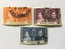 1937 Sierra Leone Coronation Complete Set
