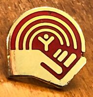 United Way Red & Goldtone Lapel Hat Pin Pinback