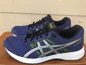 Asics Gel-Contend 5 Men's Running Shoes Blue Lace Up 1011A256 Size 11