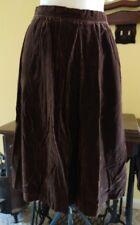 EVAN-PICONE LORD & TAYLOR Beautiful Brown Crushed Velvet Skirt lined vintage 14