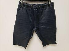 Kite Mens Shorts Vegan Leather Shorts Navy Blue 34 Drawstring