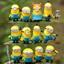 12 Piece Cute Minions Cake Toppers Set Minion Toys Models Figure Doll Xmas Gift