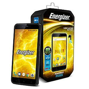 BNIB Energizer POWER MAX P550S Dual-SIM 16GB Black Factory Unlocked 4G/LTE GSM