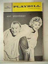 ANY WEDNESDAY Playbill BARBARA COOK / DON PORTER / ROSEMARY MURPHY NYC 1965