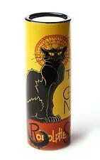 More details for john beswick steinlen le chat noir ceramic art tea light holder
