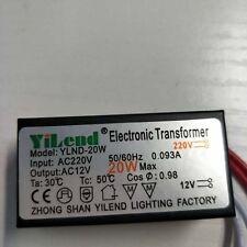 AC 220V to 12V Electronic Transformer 20W LED Driver For MR11 Lamp Bulbs New