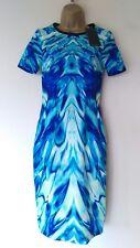 STUNNING PER UNA DRESS SZ 6 NEW WITH TAGS! BLUEGREEN/ FITTED/ ITALIAN FABRIC