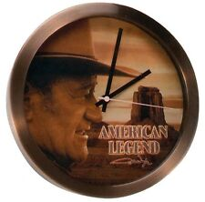 "Western Decor John Wayne 10""  Brushed Copper Clock"