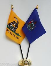 Gadsden & Maine Double Friendship Table Flag Set