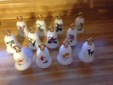 Set of 12 MINT Hamilton 1980 Wildflower Bell Collection-Bone China Japan <$4 Ea