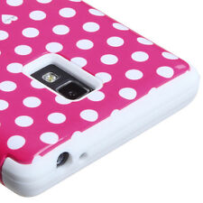 T-Mobile LG Optimus L9 P769 IMPACT TUFF HYBRID Case Skin Phone Cover Pink Dots