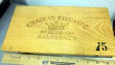 European Wood Wine Crate Panel, 1975 Chateau Rieussec Sauternes, 12 x 6.5 in