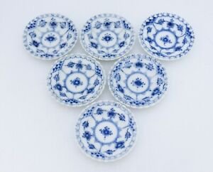 6 small dishes #1004 - Blue Fluted Royal Copenhagen - Full Lace - 1st Quality