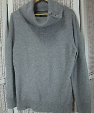 """C&A Cashmere Jumper Size M 40"""" Cowl Neck Pullover Your Sixth Sense Grey Sweater"""