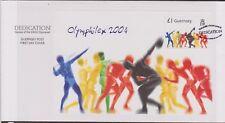 GB GUERNSEY 2004 Olympic Games/Olymphilex '04 £1 Mini-Sheet SG MS1049 FDC SPORTS