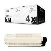 4x MWT Pro Cartuccia Nero Per OKI ES-6410-DN