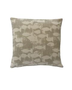 Hand made UK Shoal fish seaside beach Taupe Beige Decorative cushion cover