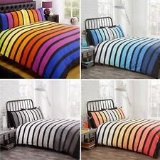 Soho Modern Bold Bright Fade Stripe Striped Duvet Cover Quilt Linen Bedding Set