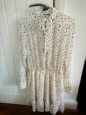 BNWT Long sleeved shirt /blouse button front ruffle dress size S