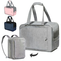 Breathable Pet Backpack Carrier Small dog Cat Travel Bag Soft Sided Crate Tote