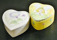 Heart Shaped/Trinket Boxes/Porcelain/Milson & Louis/Mary Kay/Calais/Valentine/ 2