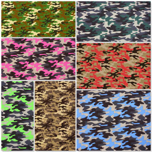 POLYCOTTON FABRIC MATERIAL CAMOUFLAGE JUNGLE URBAN ARMY AIR FORCE MILITARY