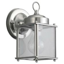Sea Gull New Castle 1 Light Antique Brushed Nickel Outdoor Wall Fixture