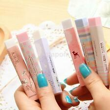 2X New Long Strip Rubber Eraser School Supplies Stationery Erasers For Kids Gift