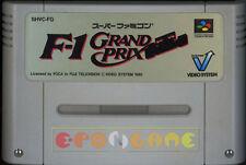 F-1 GRAND PRIX Super Nintendo SNES Famicom F1 Vers Giapponese NTSC ○○ COMPLETO