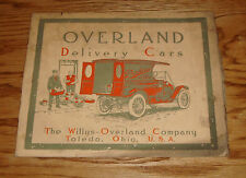 Original 1912 Overland Delivery Cars Sales Brochure 12 Willys