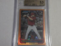 2012 Bowman Chrome Draft A.J. POLLOCK Orange RC #d24/25 BGS 9.5 GemMint. Dodgers