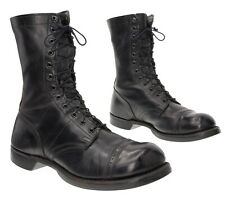 Vintage CORCORAN Paratrooper Combat Boots 11 E Leather Cap Toe WWII Jump Boots